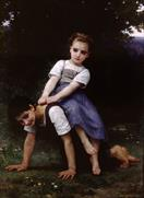 William-Adolphe Bouguereau La bourrique oil on canvas