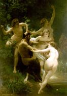 William-Adolphe Bouguereau Nymphes et satyre