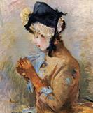Woman Wearing Gloves by Berthe Morisot 1885
