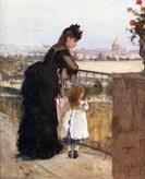 Woman and Child on a Balcony by Berthe Morisot 1872