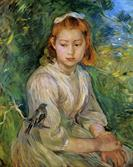 Young Girl with a Bird by Berthe Morisot 1891