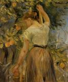 Young Woman Picking Oranges by Berthe Morisot 1889