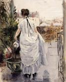 Young Woman Watering a Shrub by Berthe Morisot 1876