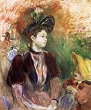 Young Woman and Child Avenue du Bois by Berthe Morisot 1894