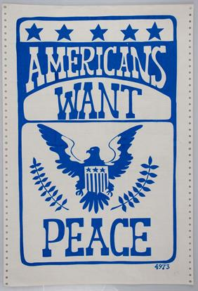 americans want peace war poster