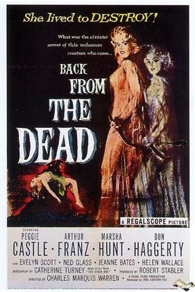 back from the dead 1958 movie poster
