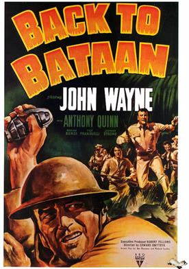 back to bataan 1945 movie poster
