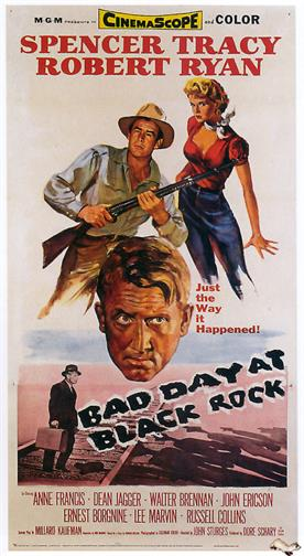 bad day at black rock 1955 movie poster