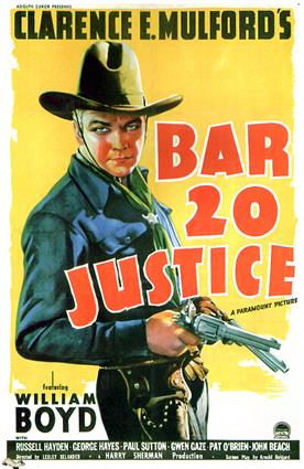 bar 20 justice 1938 movie poster