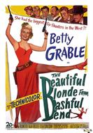 beautiful blonde from bashful bend 1949 movie poster