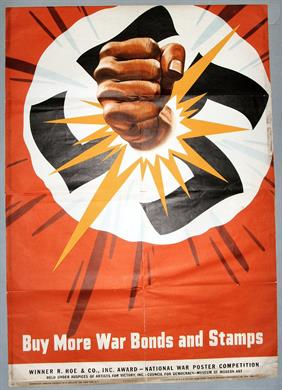 buy more war bonds and stamps war poster