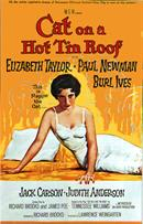 cat on a hot tin roof 1958 movie poster