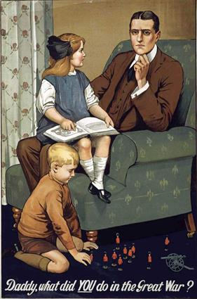 daddy what did you do in great war war poster