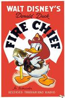 donald duck fire chief 1941 movie poster