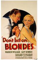 dont bet on-blondes 1935 movie poster