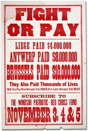 fight or pay war poster