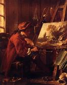 francois boucher The Painter in His Studio