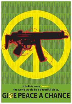 give peace a chance war poster