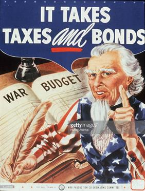 in takes taxes and bonds war poster