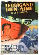 jesse james 1939 france movie poster