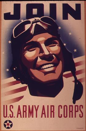 join us army air corps war poster