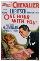 one hour with you 1932 movie poster