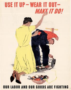 rationing use it up war poster