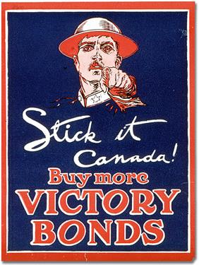stick it canada war poster