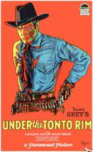 under the tonto rim 1933 movie poster
