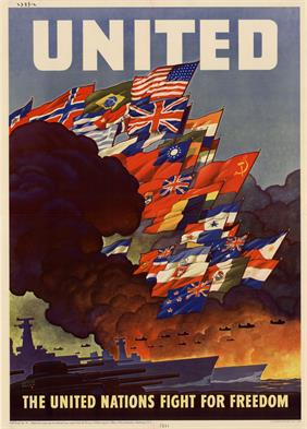 united nations fight for freedom war poster
