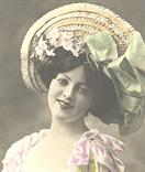 victorian fashion 1900 hat bow