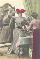 victorian fashion 1900 hat shop