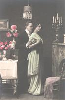 victorian fashion 1900s couple candles