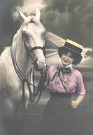 victorian fashion 1900s lady horse