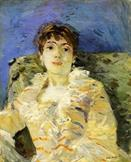 young woman on a couch by Berthe Morisot