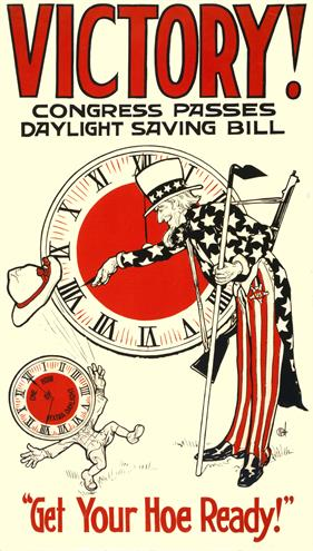 World War 1 Poster Patriotic USA Victory Daylight Savings war poster